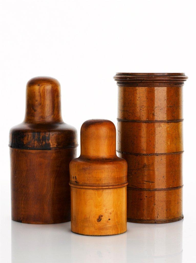3: Two Treen Bottle Holders