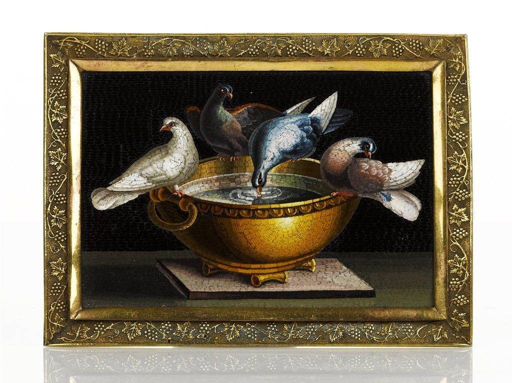 13: Roman Micromosaic Panel of Pliny's Doves