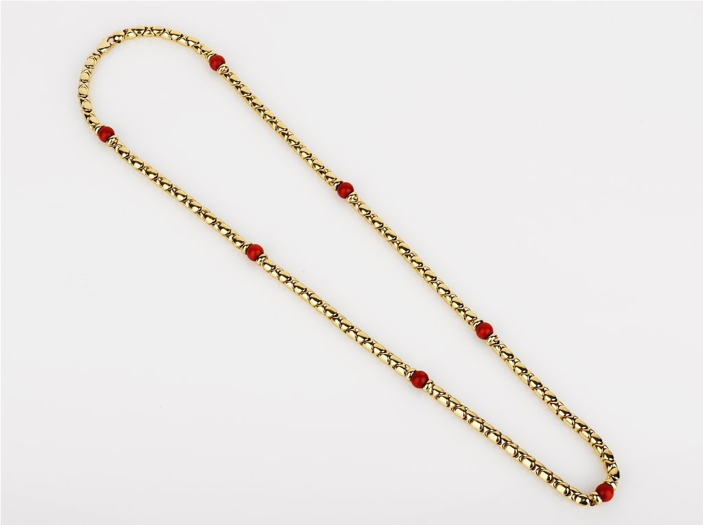 11: Gold and Coral Necklace