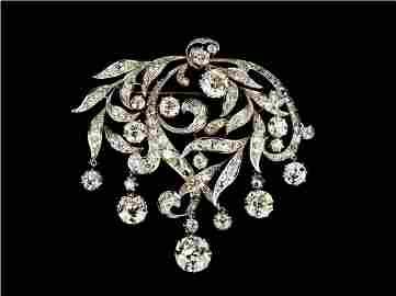 151: Antique Diamond Brooch c. 1880