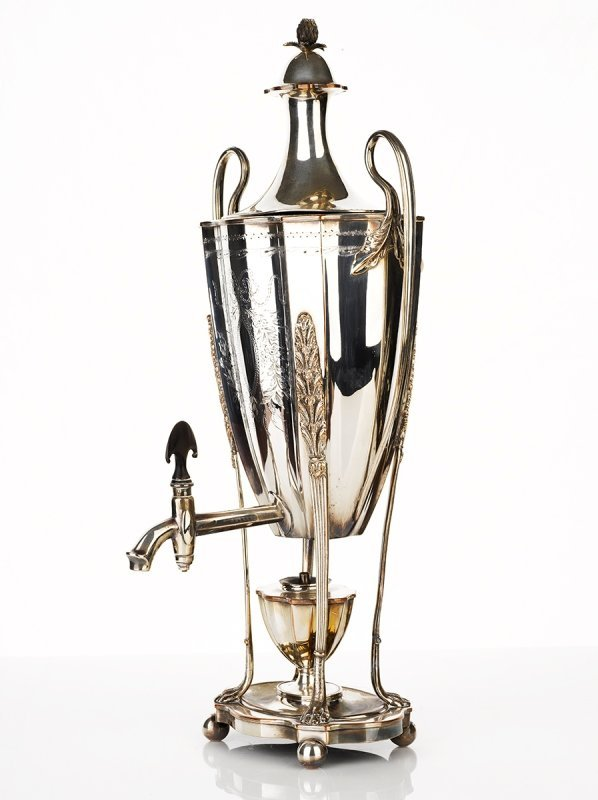 Old Sheffield Plate Tea Urn, early 19th Century