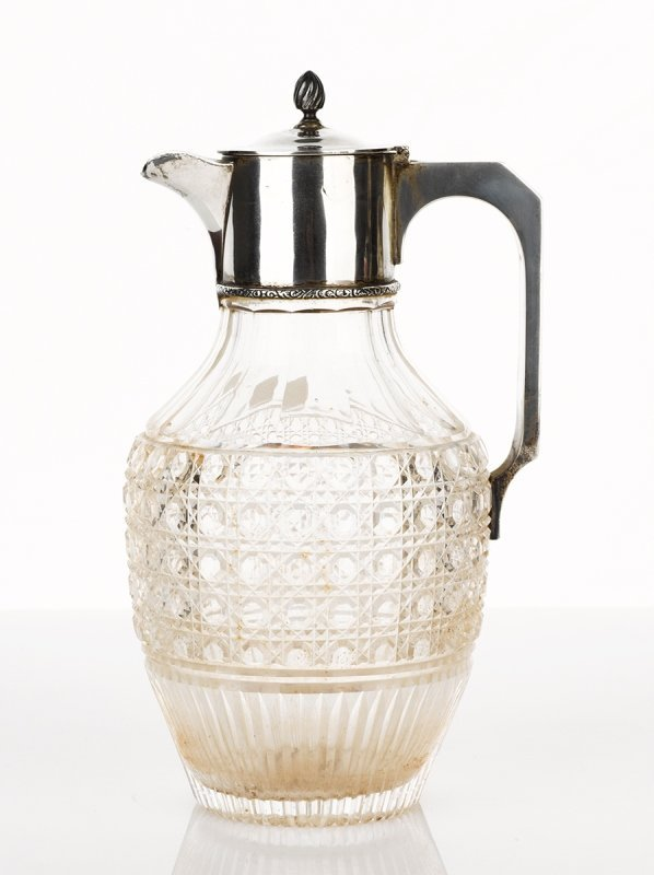 T. W and S, London, Edwardian Crystal Claret Jug