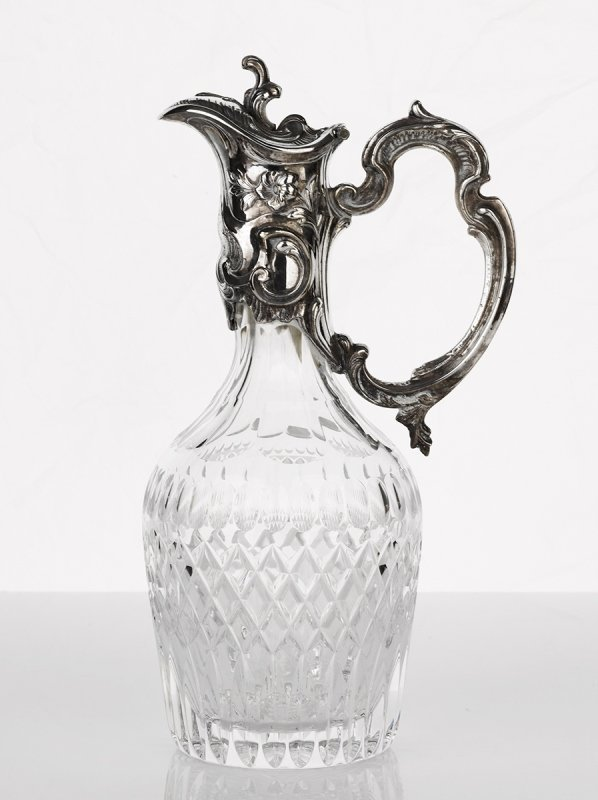 Whitehill, Silver Plated and Crystal Claret Jug