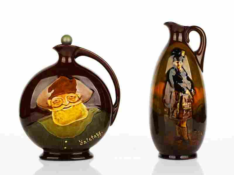 Royal Doulton Kingsware, Dewars Whisky Flask 'The