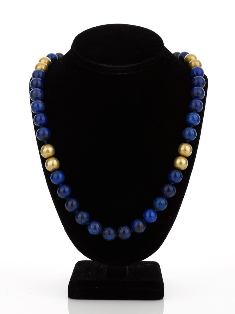 Lapis and Gold Necklace