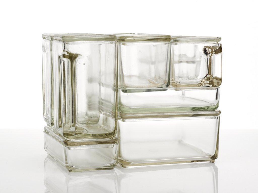 wilhelm wagenfeld kubus storage jars germany 1938. Black Bedroom Furniture Sets. Home Design Ideas