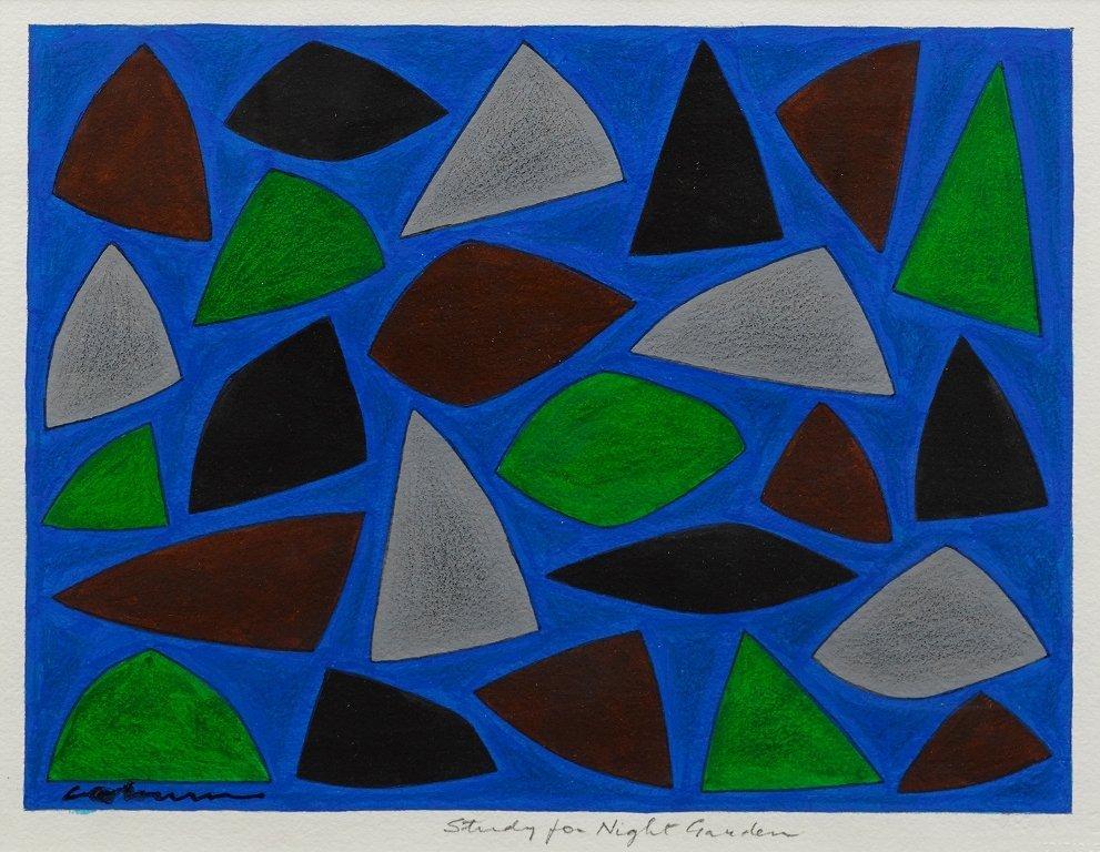 John Coburn (1925-2006), Study for Night Garden
