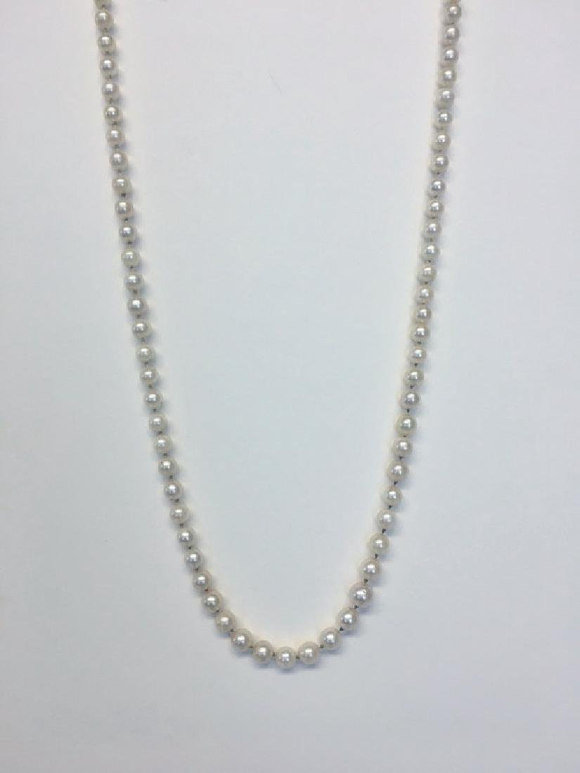 """36"""" OPERA LENGTH PEARLS W/ 14K GOLD CLASP"""