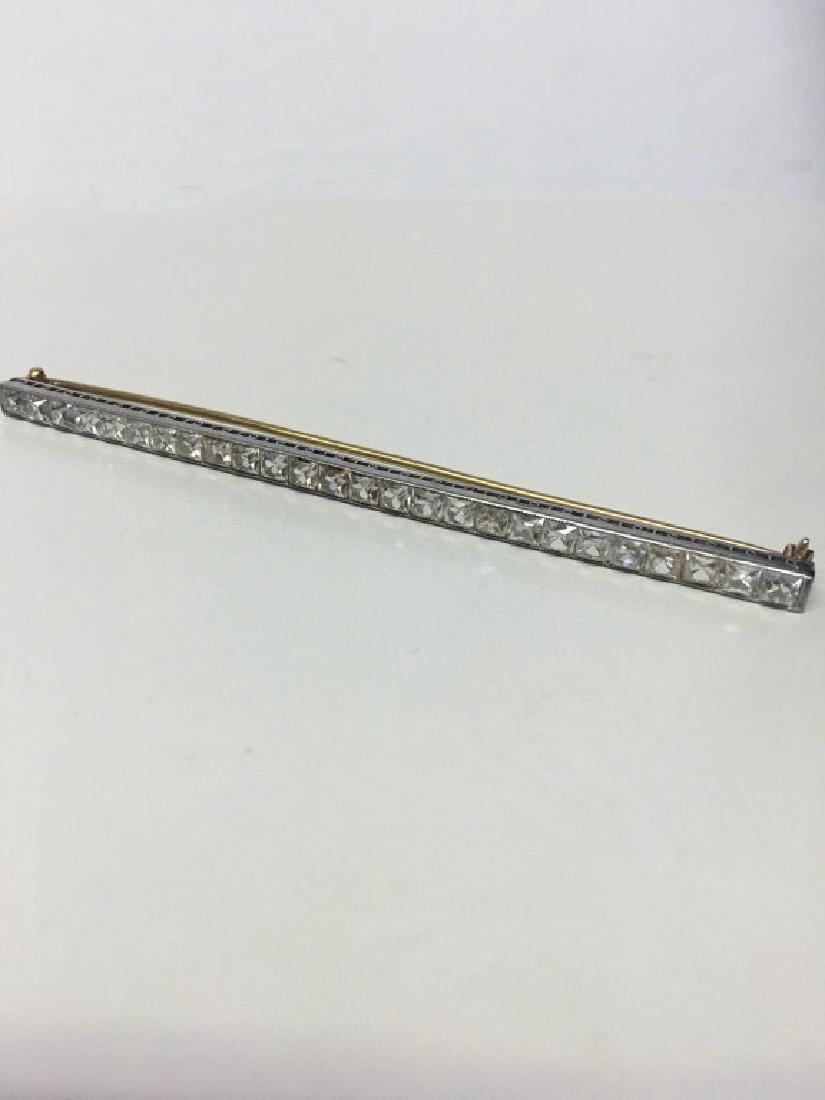 VINTAGE DIAMOND BAR PIN MARKED TIFFANY & CO