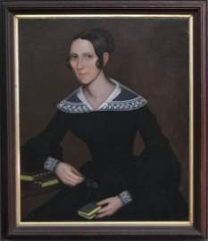 AMMI PHILLIPS PORTRAIT OF MARY HOYT, C.1836
