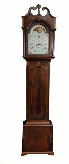 MITCHELL & MOTT NY TALL CASE CLOCK  C. 1790