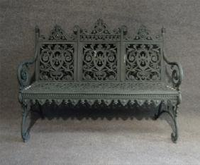 CAST IRON CURTIN BENCH BY NORTH AMER. IRON WORKS