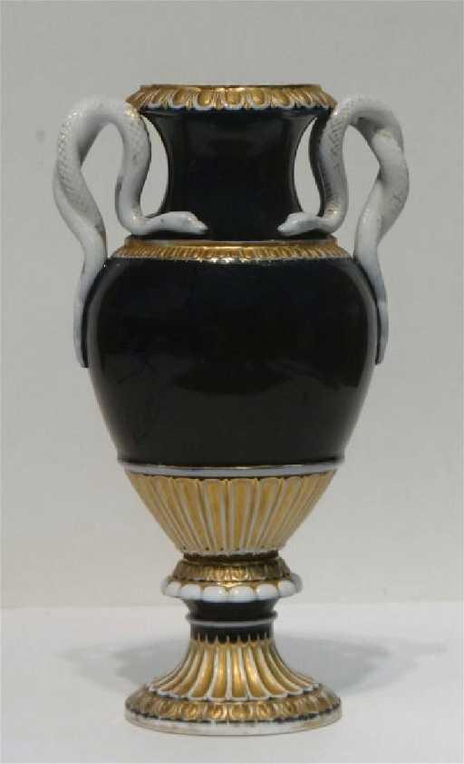 Cobalt Blue Gold Meissen Vase