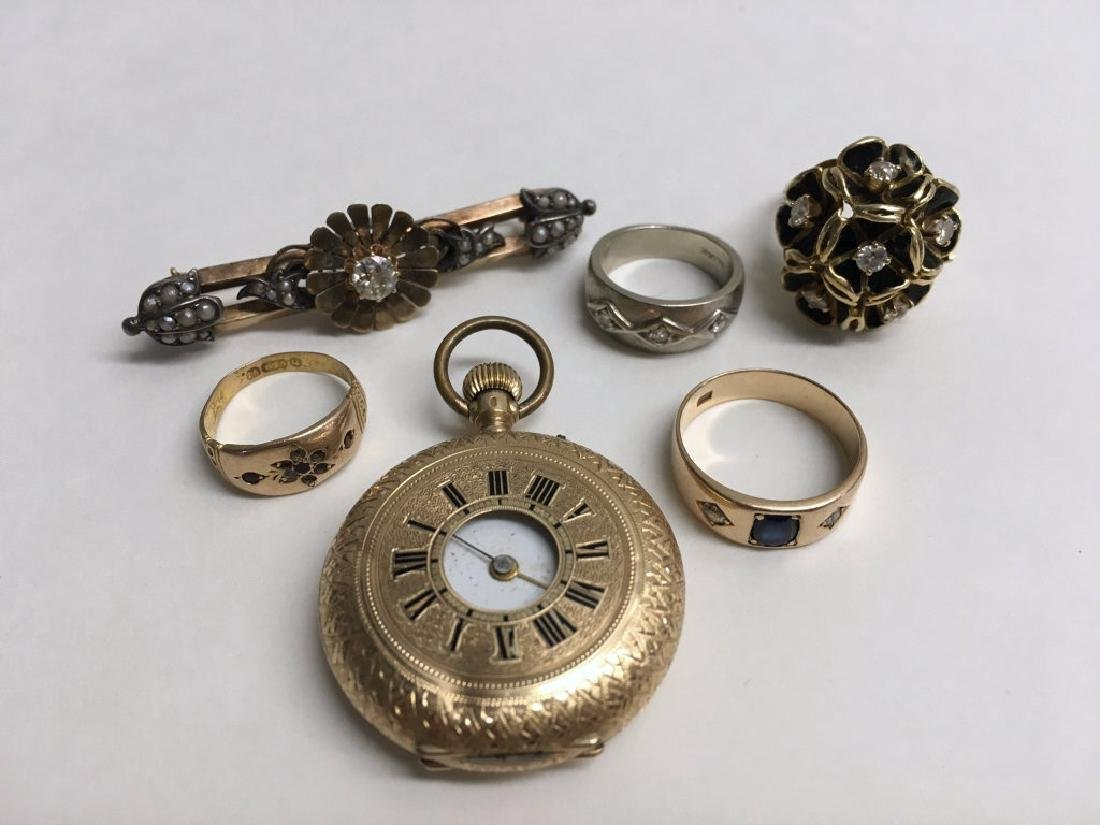 VICT. JEWELRY INC. DIAMOND COCKTAIL RING,  DIAM.