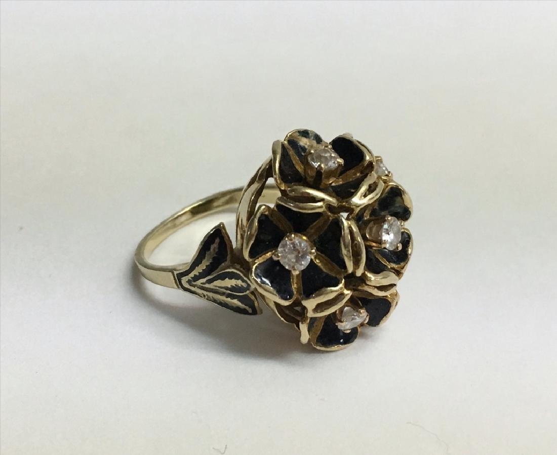 VICT. JEWELRY INC. DIAMOND COCKTAIL RING,  DIAM. - 7