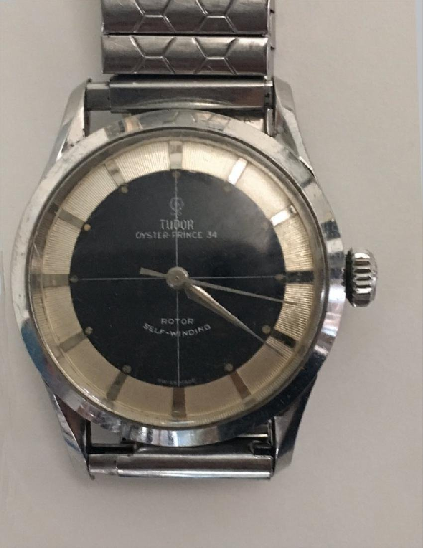2 VINTAGE WRIST WATCHES: TUDOR OYSTER PRINCE 34 & - 2