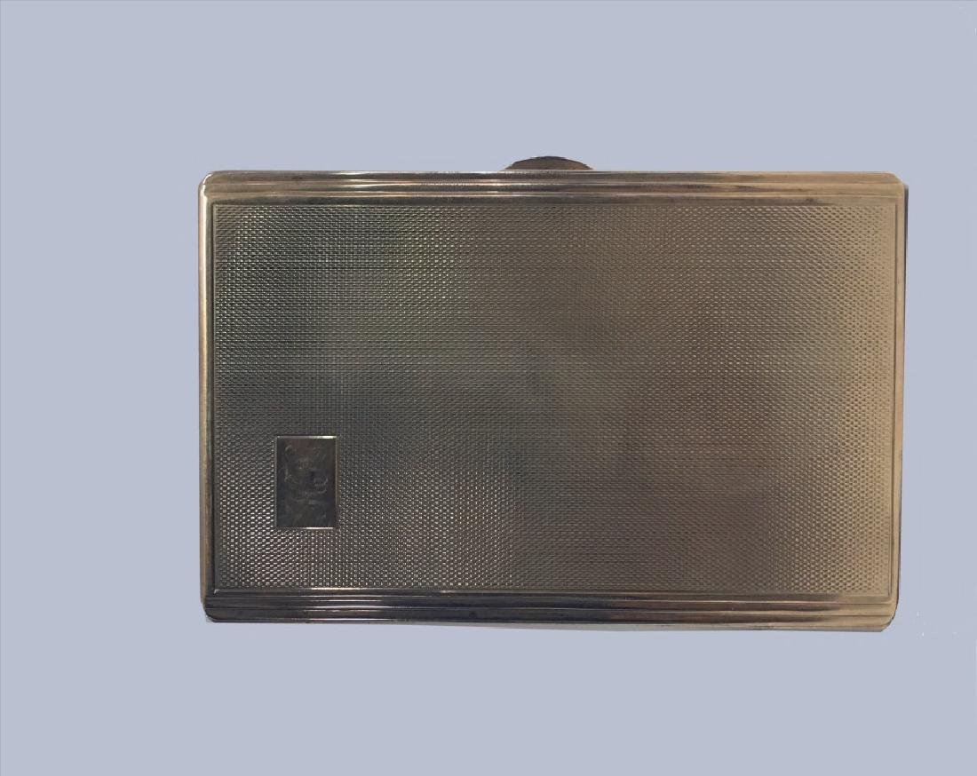 9KT GOLD CIGARETTE CASE, MONOGRAMED H.H. 1952 -
