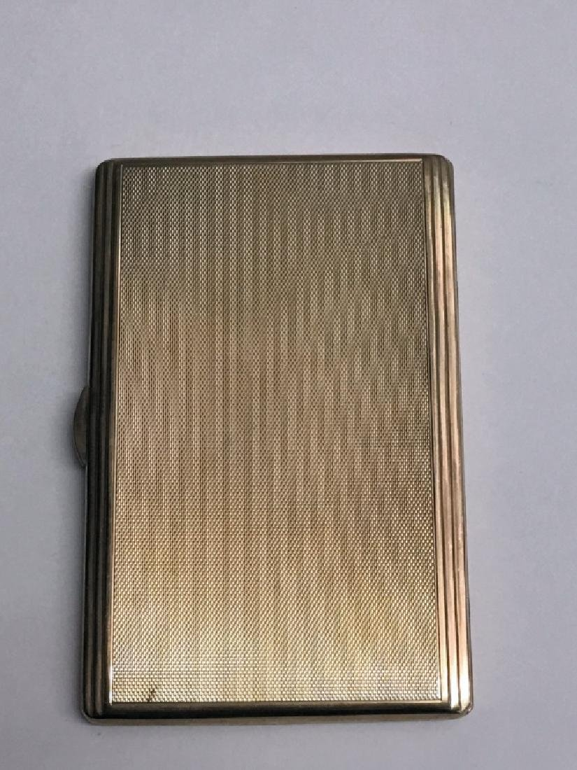 9KT GOLD CIGARETTE CASE, MONOGRAMED H.H. 1952 - - 4