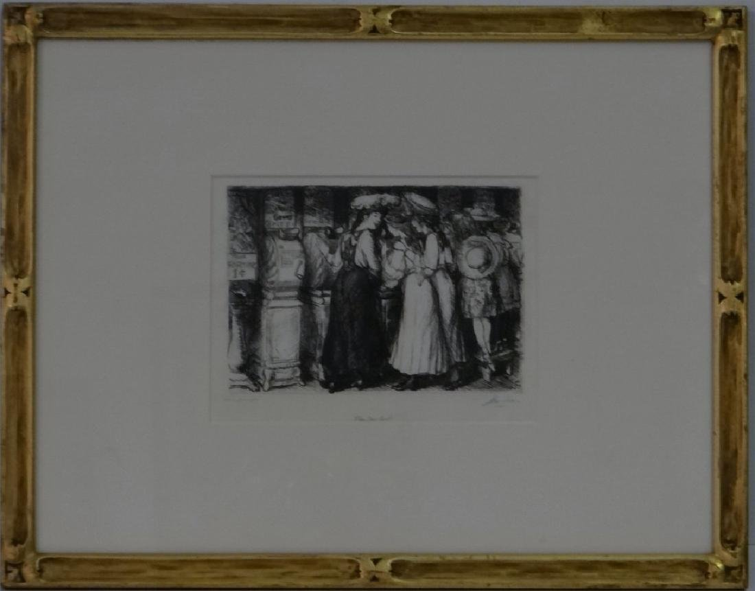 """FUN ONE CENT"" JOHN SLOAN SGND ENGRAVING"