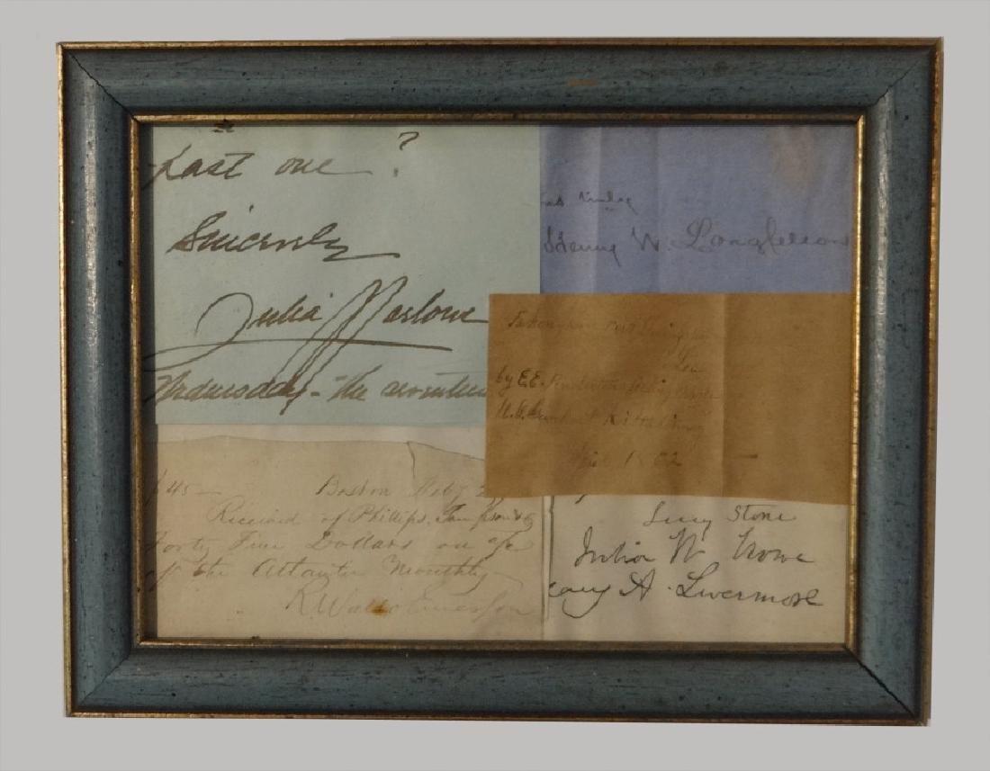 AUTOGRAPHS INC. HENRY W. LONGFELLOW,  R. WALDO