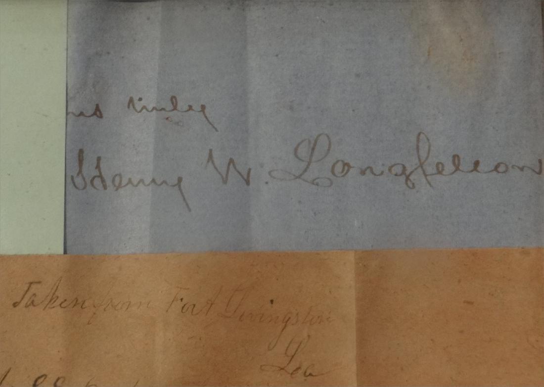 AUTOGRAPHS INC. HENRY W. LONGFELLOW,  R. WALDO - 4