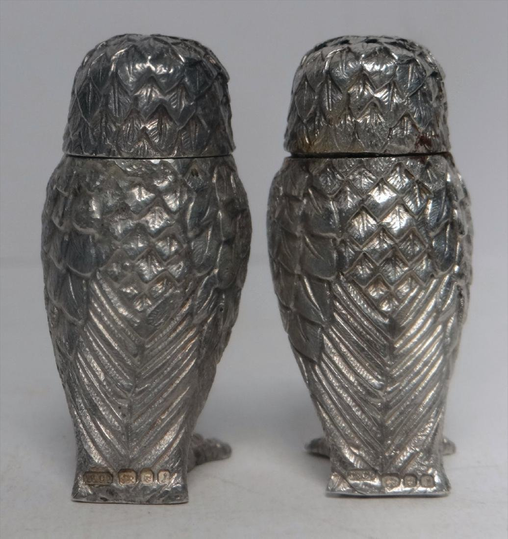 TIFFANY FIGURAL STERLING SILVER S & P OWLS - 3