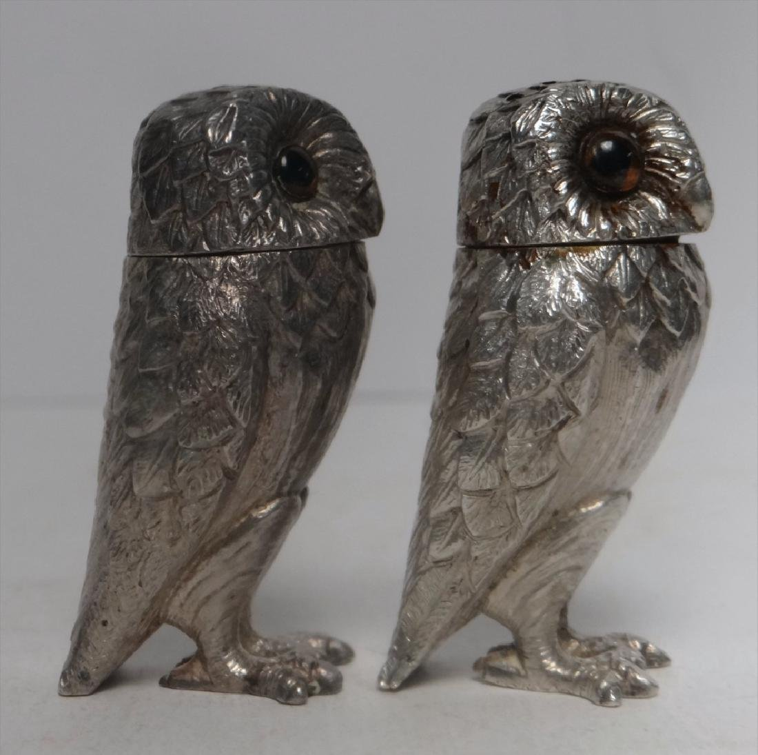 TIFFANY FIGURAL STERLING SILVER S & P OWLS - 4