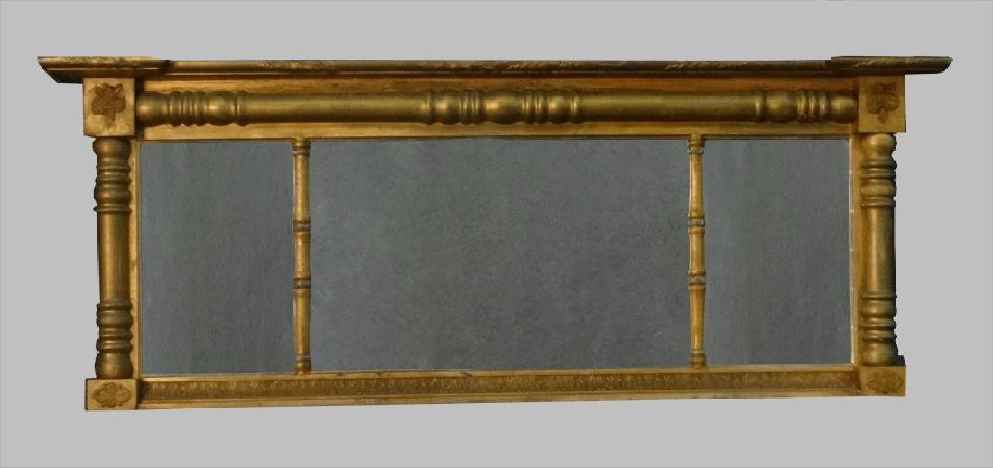 OVER MANTLE MIRROR C. 1840 IN 3 SECTIONS
