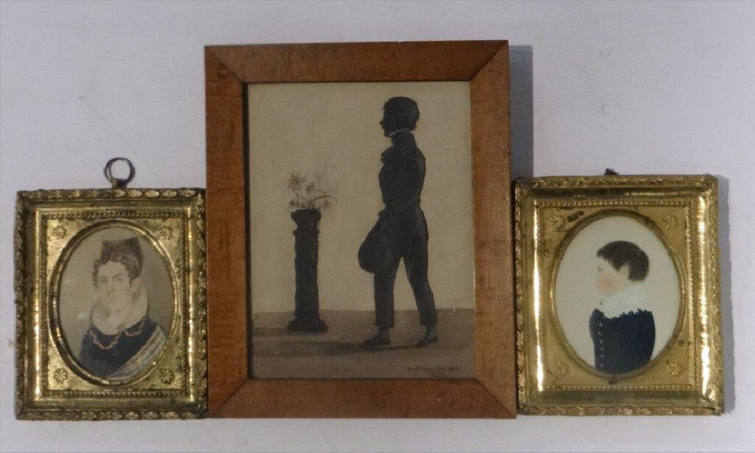 3 MINIATURES: WM RUSSELL BIRCH SGND PROFILE 1819,