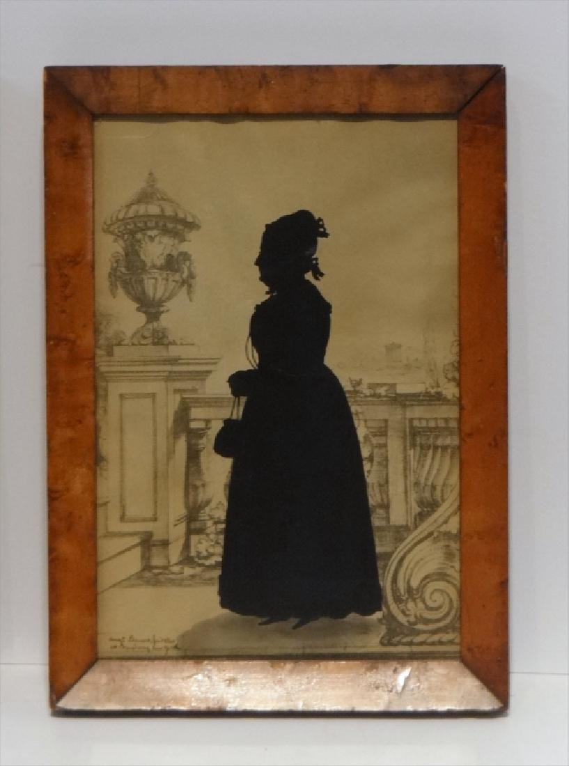 PR OF SILHOUETTES SGND AUG.  EDOUART, 1840 - 2