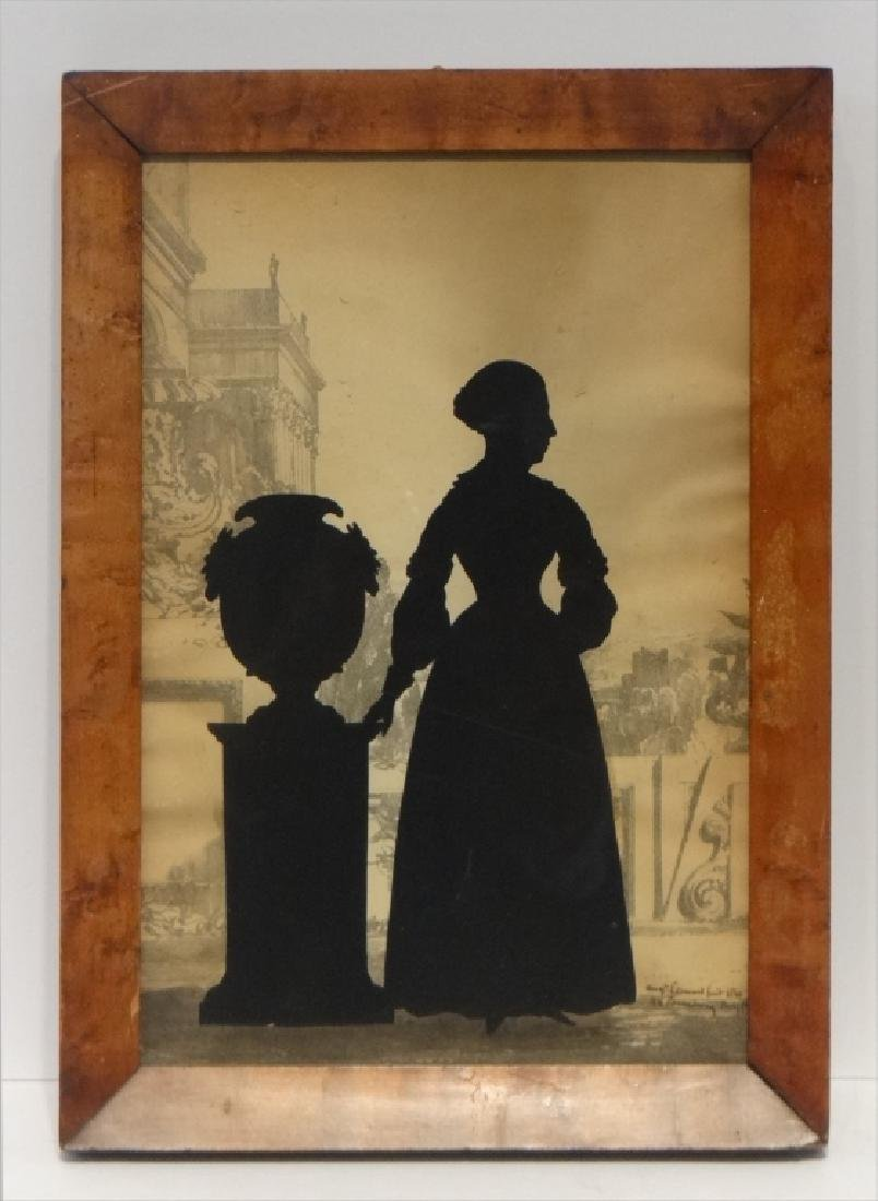 PR OF SILHOUETTES SGND AUG.  EDOUART, 1840 - 3