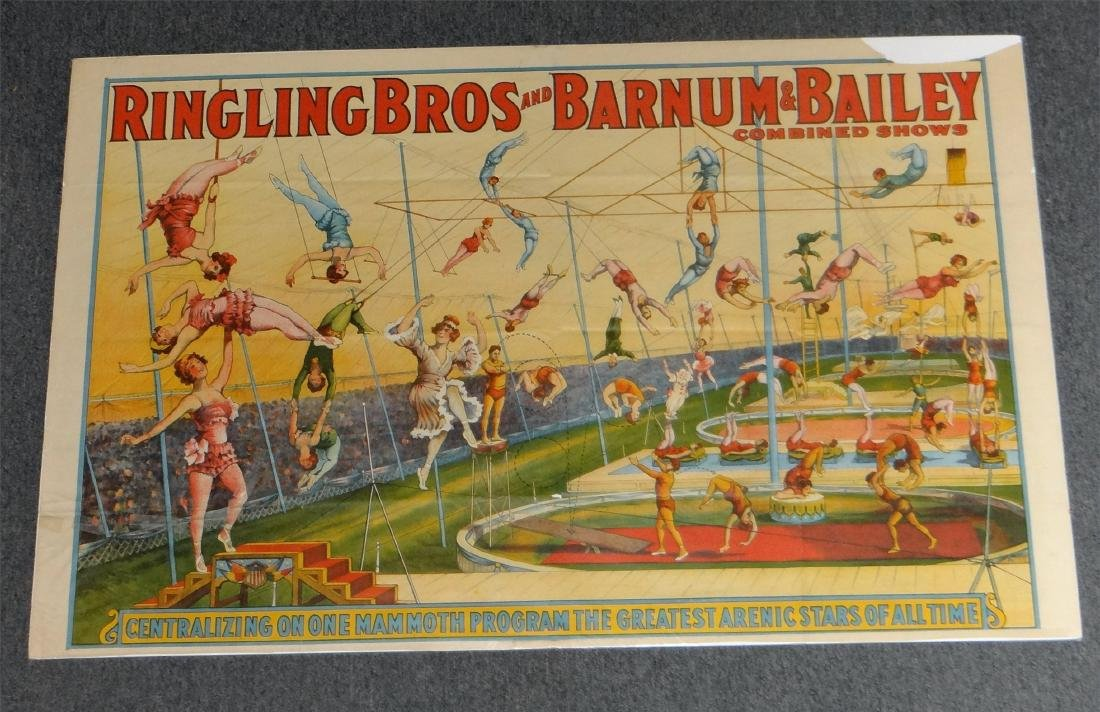 5 VINTAGE CIRCUS POSTERS: RINGLING BROS. & BARNUM - 2