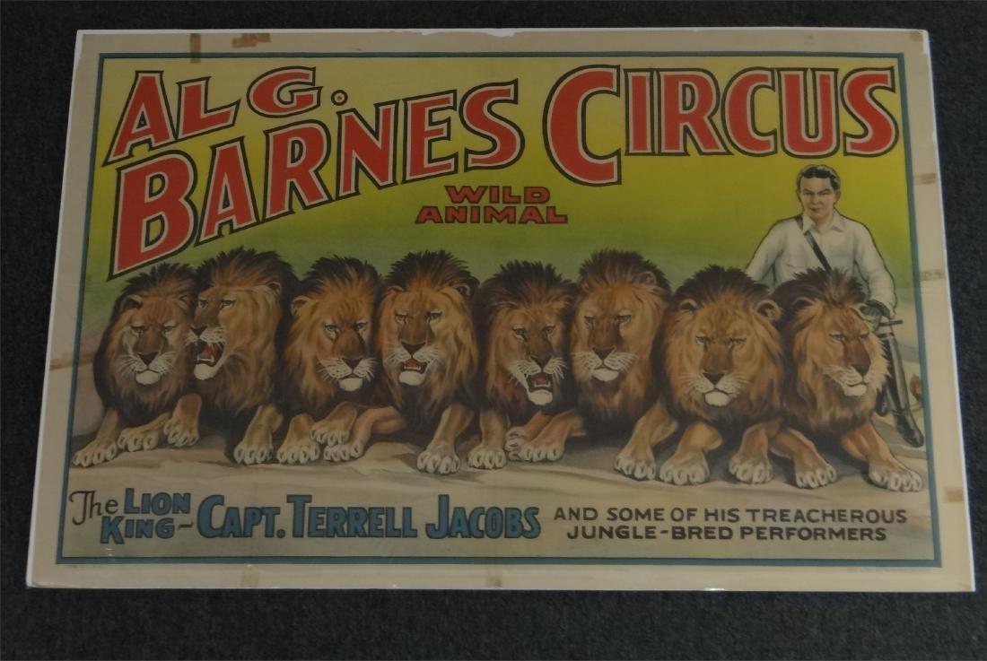 5 VINTAGE CIRCUS POSTERS: AL G. BARNES, KING BROS& - 2