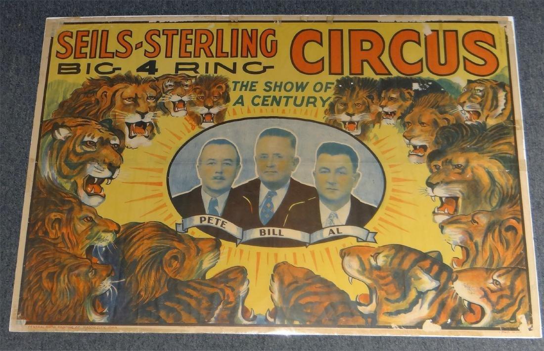 5 VINTAGE CIRCUS POSTERS: AL G. BARNES, KING BROS& - 4