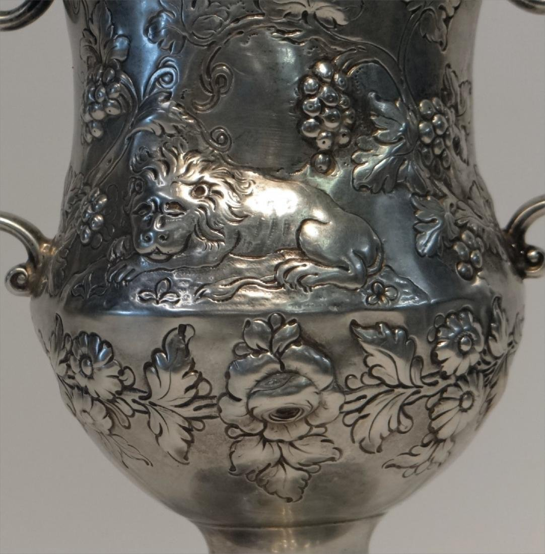 IRISH STERLING DOUBLE HANDLED CUP C.1770 W/ - 2