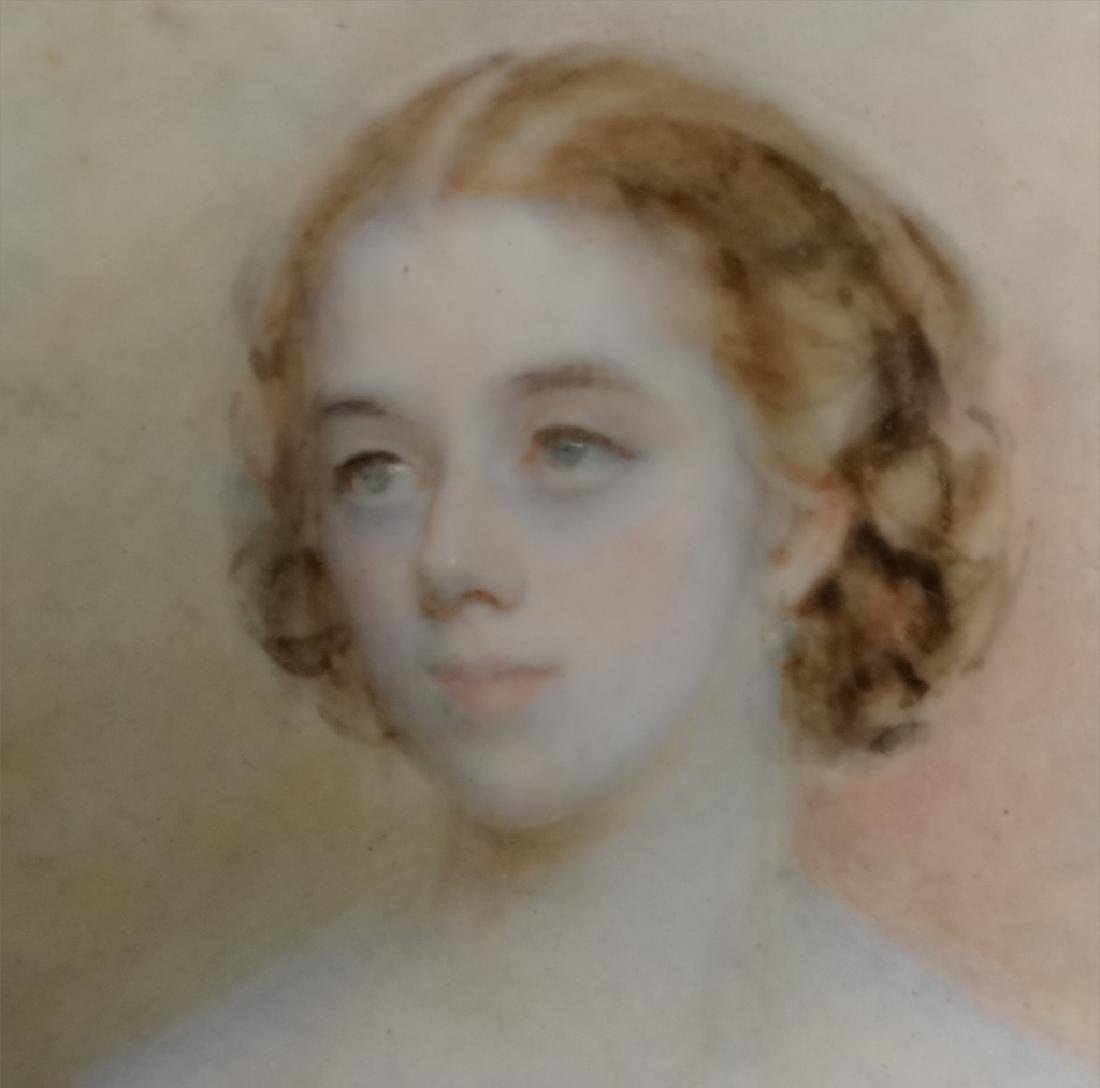 WATERCOLOR PORTRAIT OF A DEBUTANTE LABELED - 4