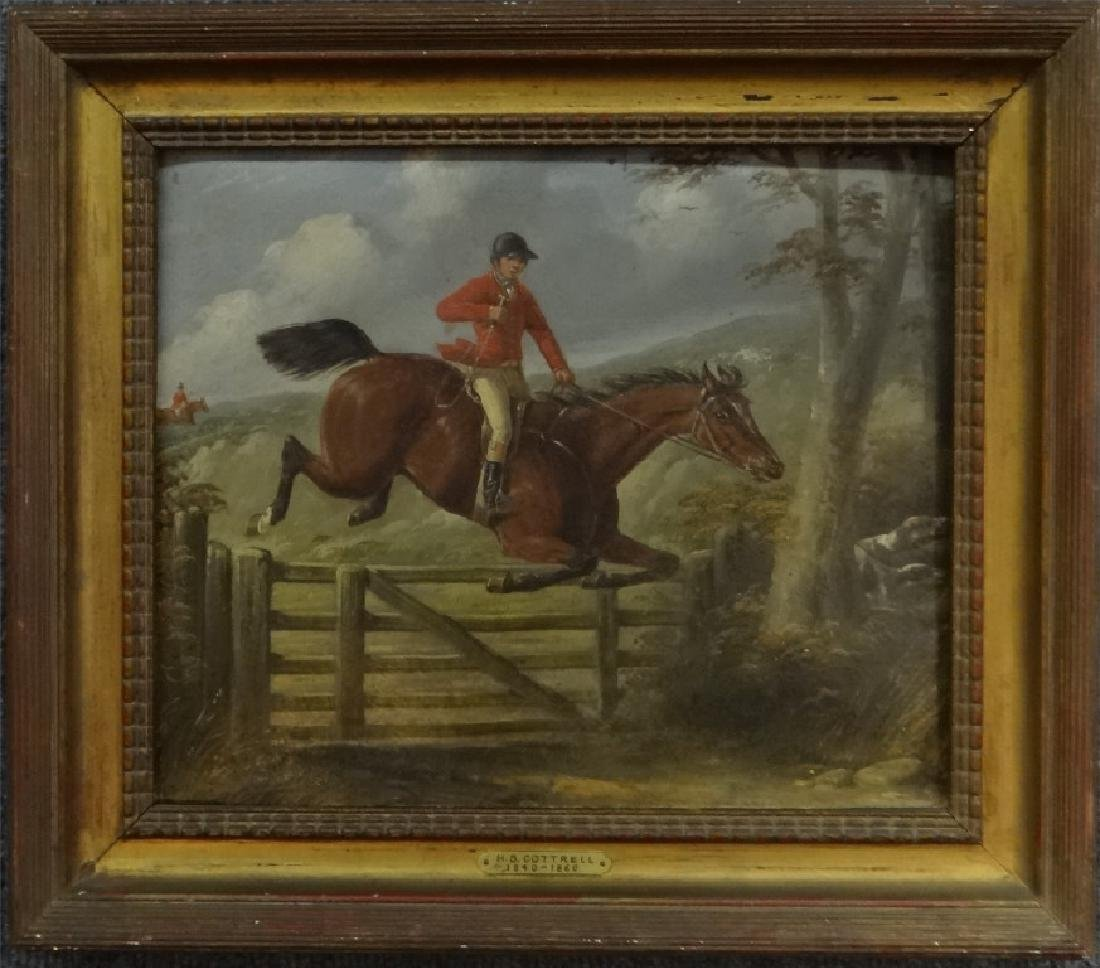 "O/BD ""TAKING THE GATE "" SIGNED H.S. COTTRELL"