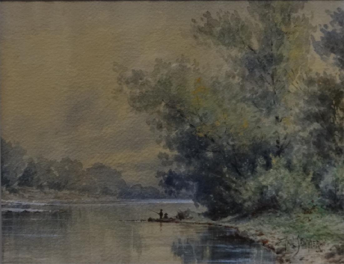 "W/C ""FISHING IN KENTUCKY"" SGND PAUL SAWYIER - 3"