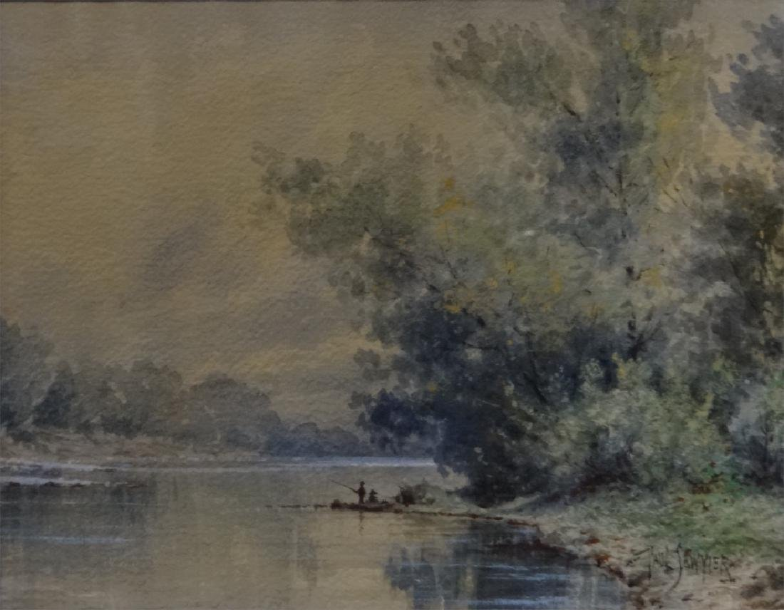"W/C ""FISHING IN KENTUCKY"" SGND PAUL SAWYIER - 4"