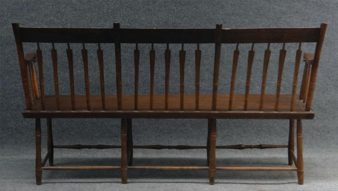 "ARROWBACK PLANK SEAT  WINDSOR BENCH 59"" LONG - 4"