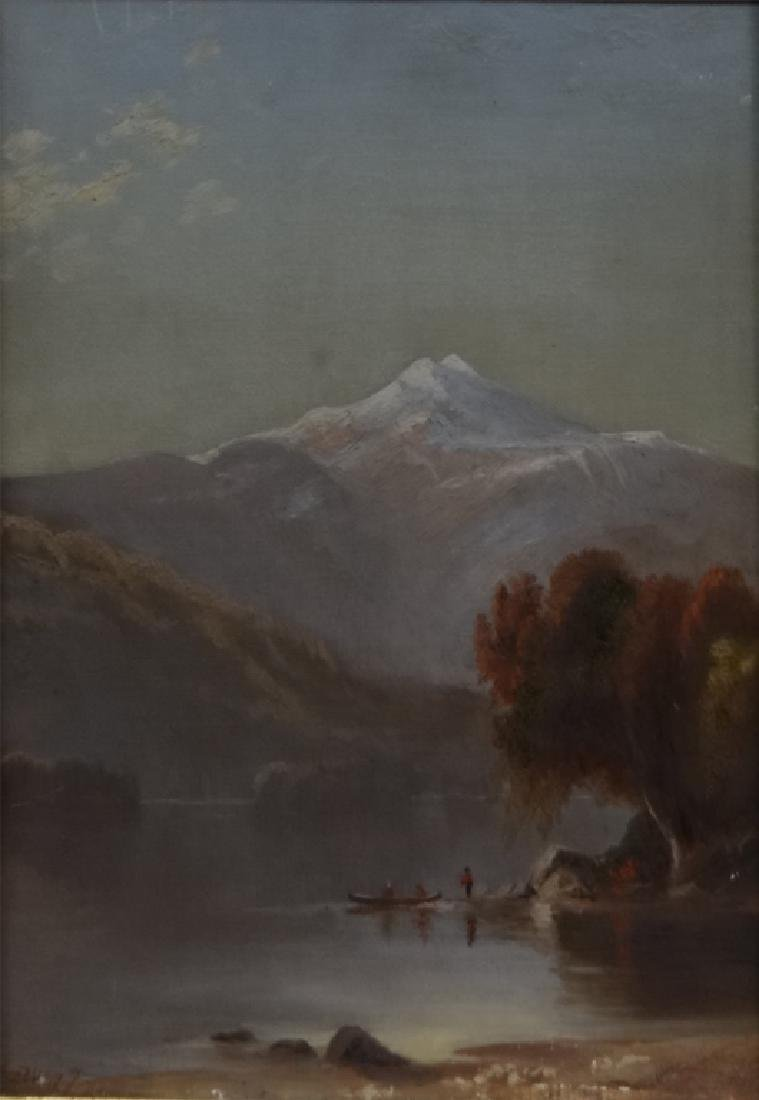 O/C 19THC. VIEW OF MT. JEFFERSON SGND - 2