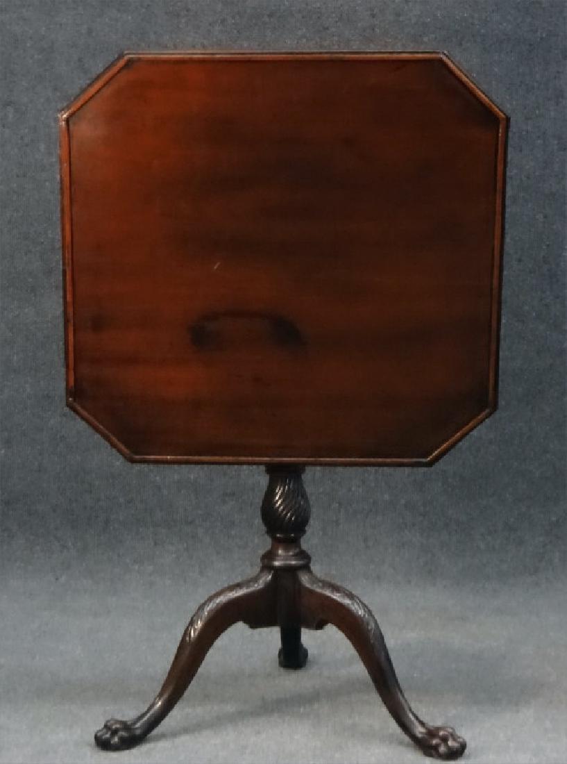 ENGLISH TILTING TRAY TOP TEA TABLE, MAHOGANY, 1810