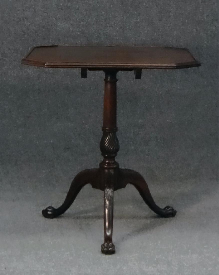 ENGLISH TILTING TRAY TOP TEA TABLE, MAHOGANY, 1810 - 2