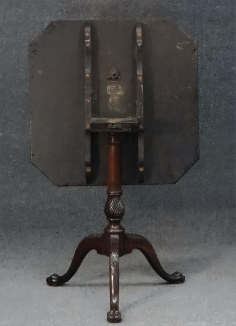 ENGLISH TILTING TRAY TOP TEA TABLE, MAHOGANY, 1810 - 3