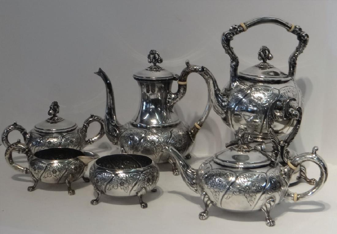 6 PCS. STERLING SILVER TEA & COFFEE SET