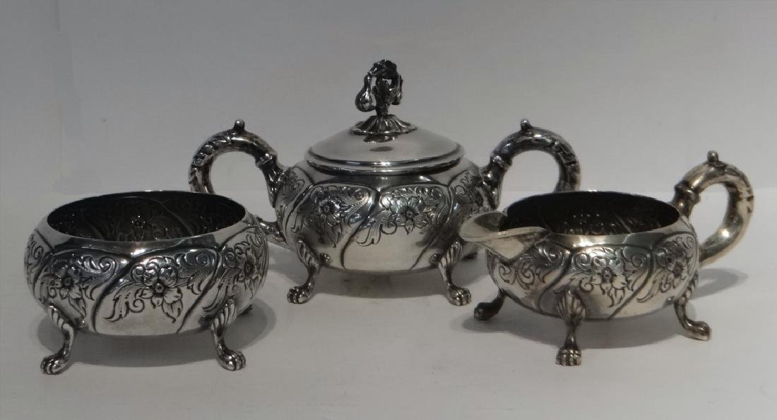 6 PCS. STERLING SILVER TEA & COFFEE SET - 4
