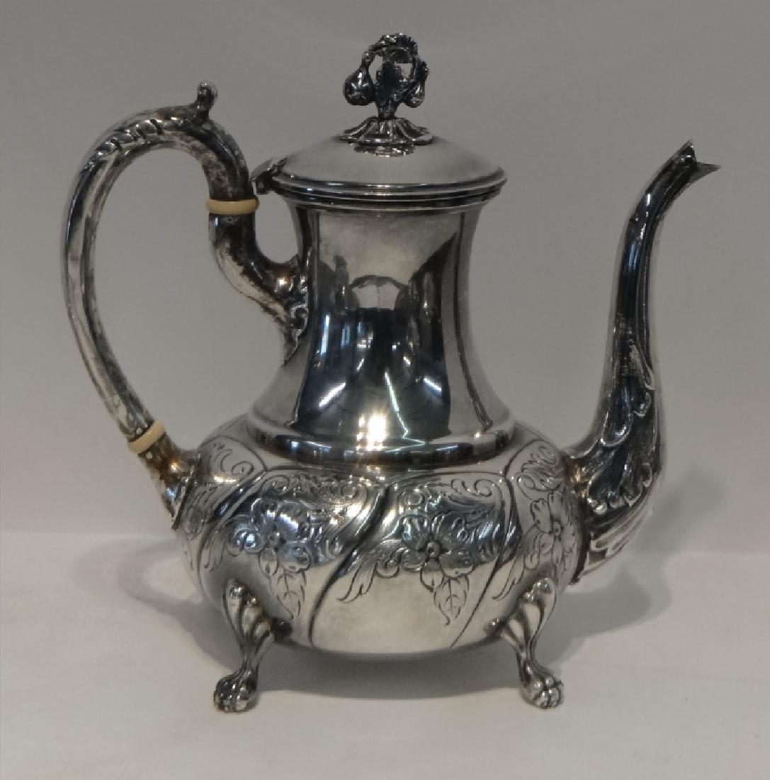 6 PCS. STERLING SILVER TEA & COFFEE SET - 7