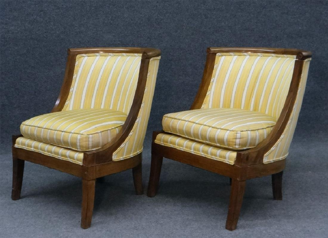 PR OF FRENCH 19THC. SALON OR TUB CHAIRS