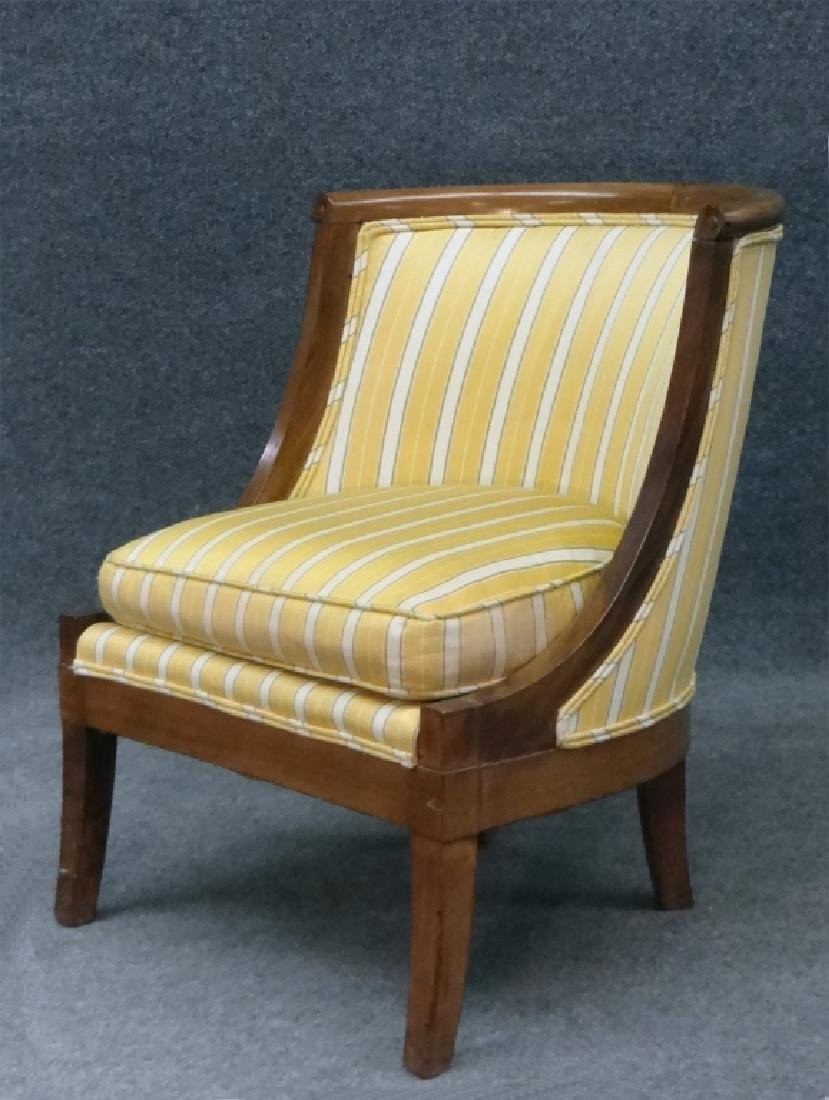 PR OF FRENCH 19THC. SALON OR TUB CHAIRS - 3