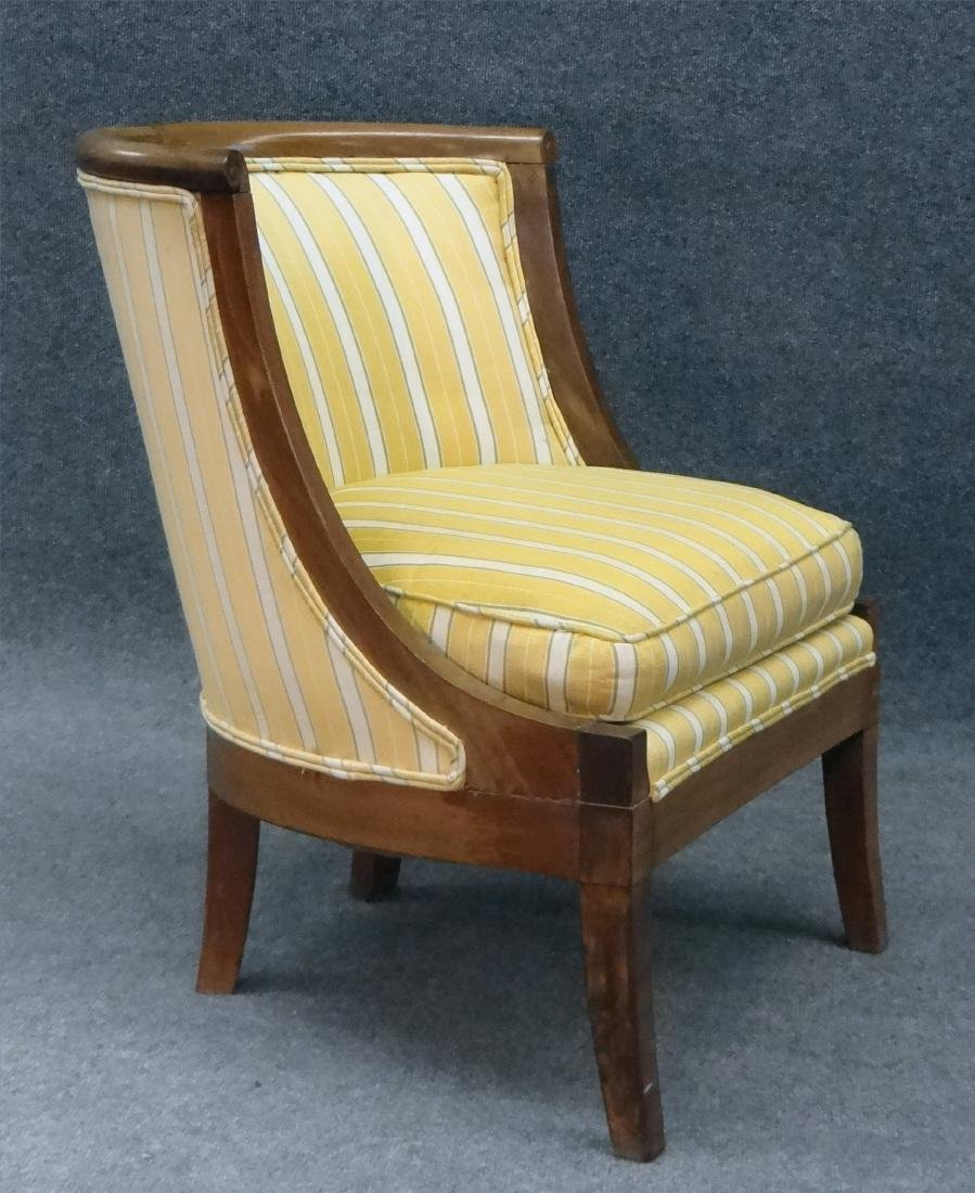 PR OF FRENCH 19THC. SALON OR TUB CHAIRS - 4